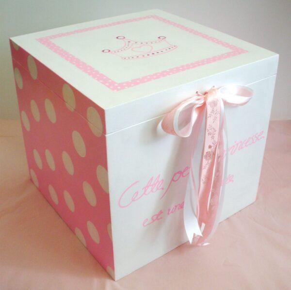 Κουτί βάπτισης Πριγκίπισσα (κορώνα) VK029