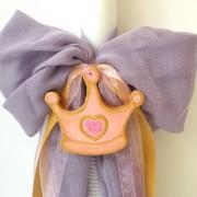 Λαμπάδα βάπτισης Πριγκίπισσα (μώβ- χρυσό) VL004-13