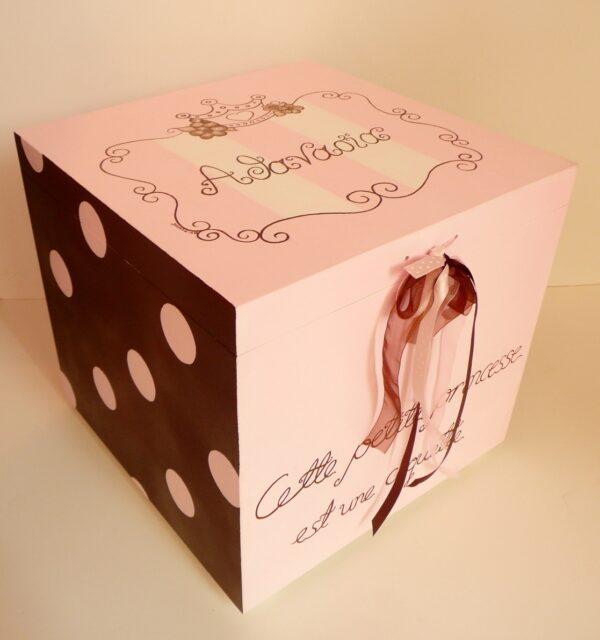 Κουτί βάπτισης Πριγκίπισσα (baroque edition) VK027