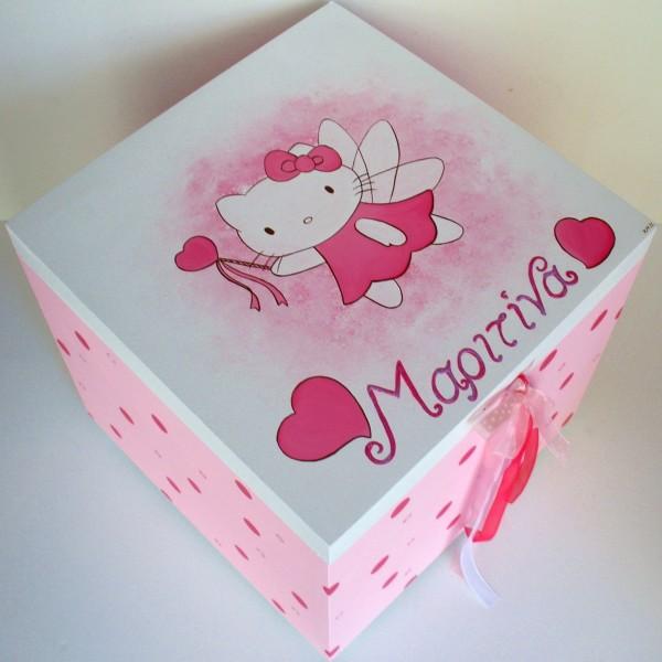 Κουτί βάπτισης Hello Kitty VK001