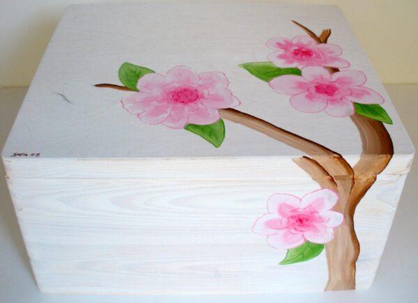 Κουτί βάπτισης Λουλούδια (Σειρά ECO) VK015