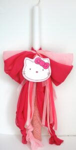 Λαμπάδα βάπτισης Hello Kitty VL004-6