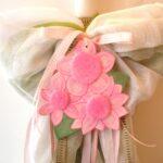 Λαμπάδα βάπτισης Λουλούδια (οικολογικό σετ) VL004-1