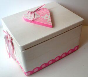 Κουτί βάπτισης Καρδούλα - Οικολογική σειρά VK054