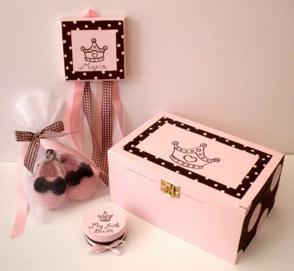 Σετ δώρου πριγκίπισσα για νεογέννητα NBG001