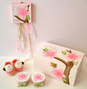 Σετ δώρου Λουλουδάκι για νεογέννητα NBG002
