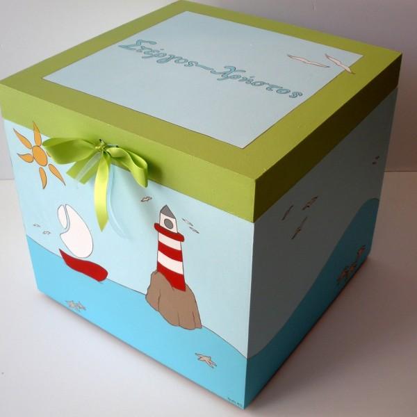 Κουτί βάπτισης Φάρος VK044