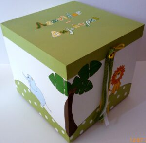 Κουτί βάπτισης Λιονταράκι VK046