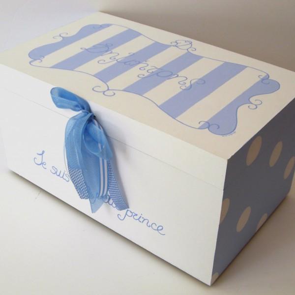 Κουτί βάπτισης Baroque Γαλάζιο VK048