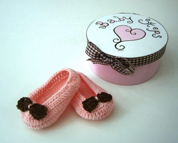 Σετ δώρου Baby Steps ροζ baroque για νεογέννητα NBG027
