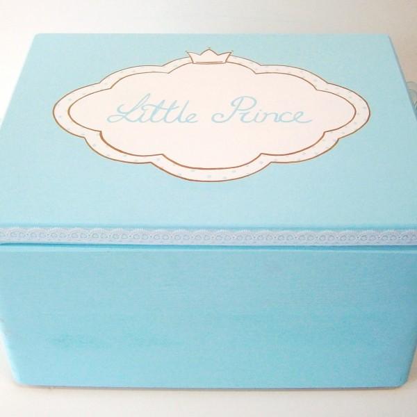 Κουτί βάπτισης Τιρκουάζ κορώνα (Eco) VK053