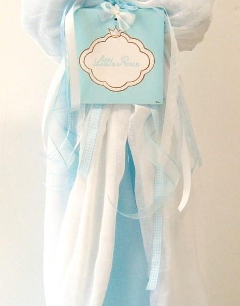 Λαμπάδα βάπτισης Τιρκουάζ - κορώνα VL004-37