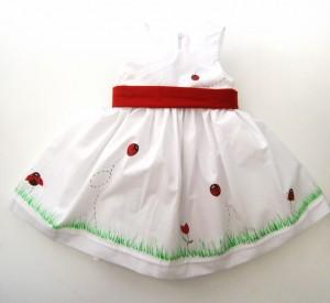 Βαφτιστικό φόρεμα Πασχαλίτσες BD014