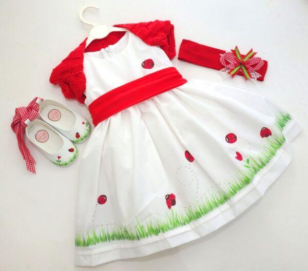 Βαφτιστικό φόρεμα Πασχαλίτσες BD003