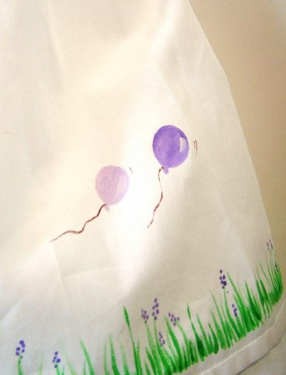 Βαφτιστικό φόρεμα Αερόστατο (λιλά) BD015