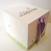 Κουτί βάπτισης Αερόστατο (λιλά) VK056