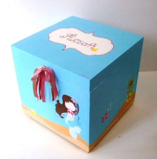 Κουτί βάπτισης Γοργόνα 2 (τιρκουάζ) VK058