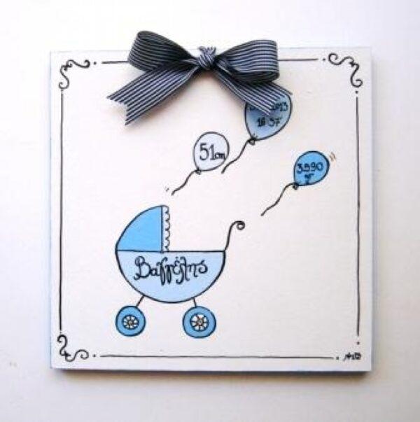 Παιδικό ταμπελάκι Αναμνηστικό γέννησης 2 DTP067