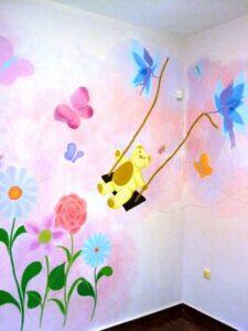Παιδική τοιχογραφία Αρκουδάκι PT002