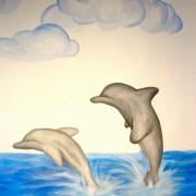 Παιδική τοιχογραφία Δελφίνια PT007