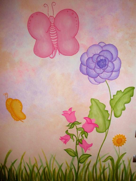 Παιδική τοιχογραφία Πεταλούδες PT008