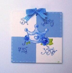 Παιδικό ταμπελάκι Αναμνηστικό γέννησης 4 DTP069