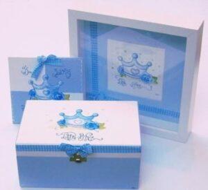 Σετ κορώνα - baby blue NBG043