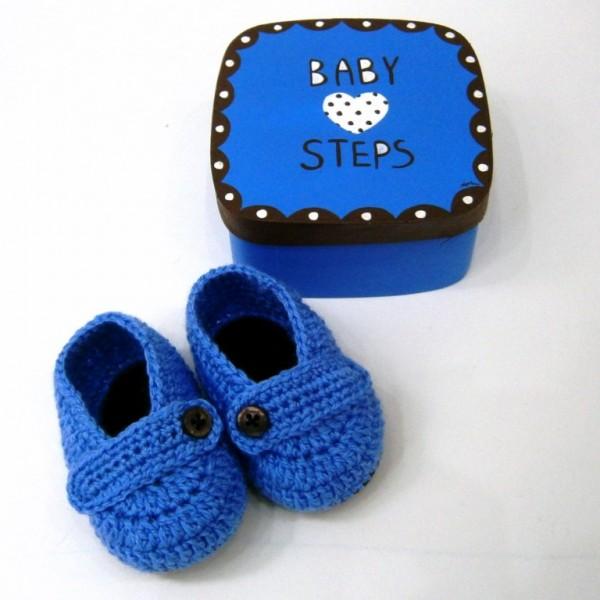 Σετ δώρου Baby Steps μπλε για νεογέννητα NBG052