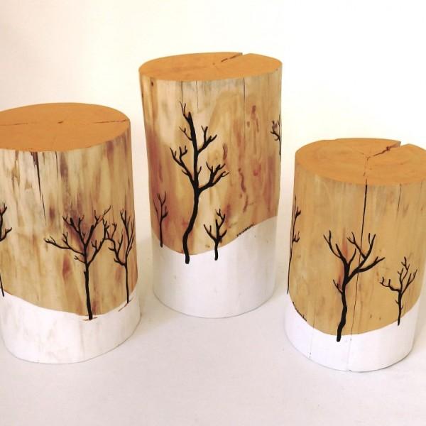 Ζωγραφιστά σκαμπώ - κορμοί δέντρων - CF003