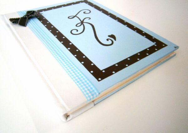 Ζωγραφιστό βιβλίο ευχών Μονόγραμμα BE010