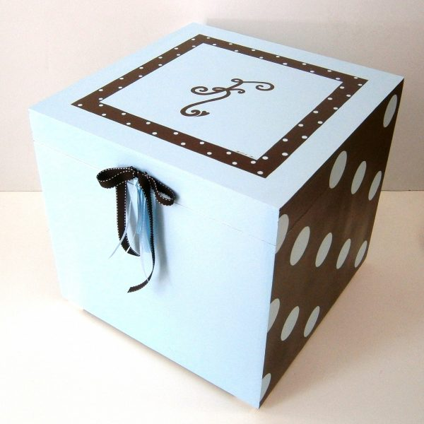 Κουτί βάπτισης Μονόγραμμα VK063