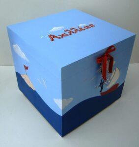 Κουτί βάπτισης Καραβάκι VK064