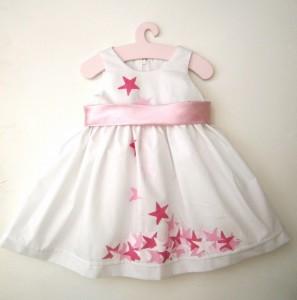 Βαφτιστικό φόρεμα Αστέρι (ροζ) BD016