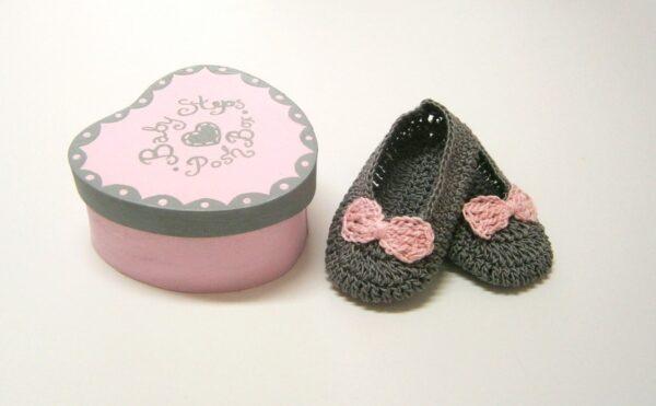 Δώρο για νεογέννητα κοριτσάκια ροζ-γκρι NBG057