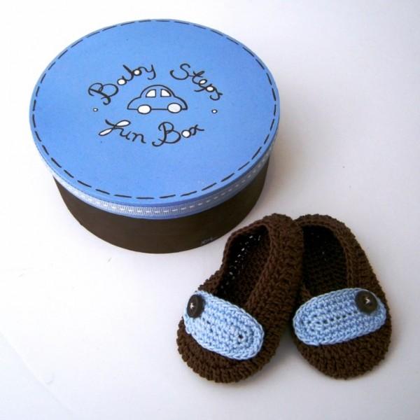 Δώρο για νεογέννητα αγοράκια μπλε-καφέ NBG058