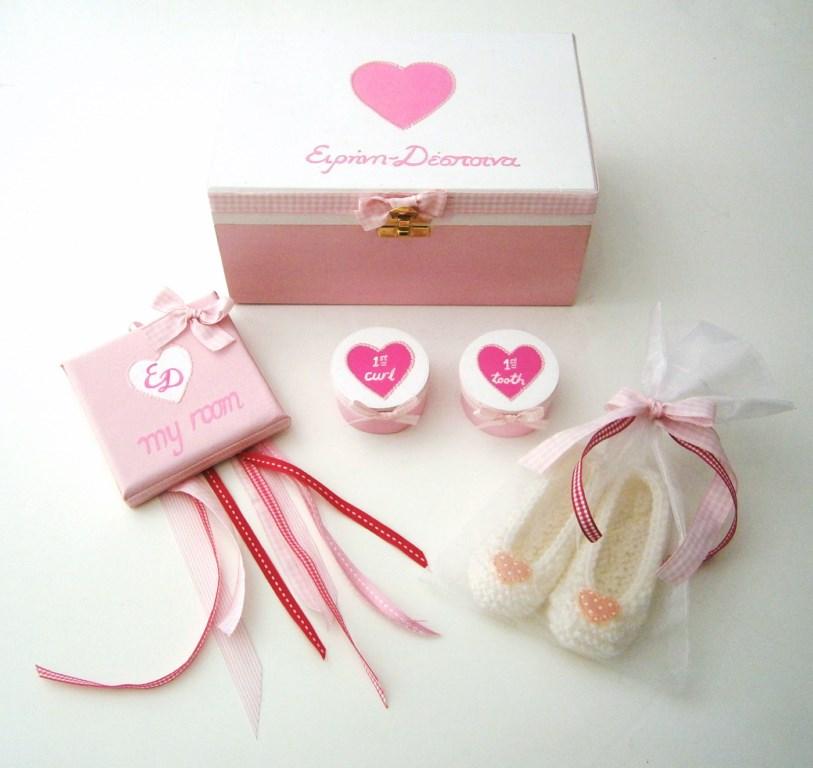 Σετ δώρου για νεογέννητα Καρδούλα NBG061