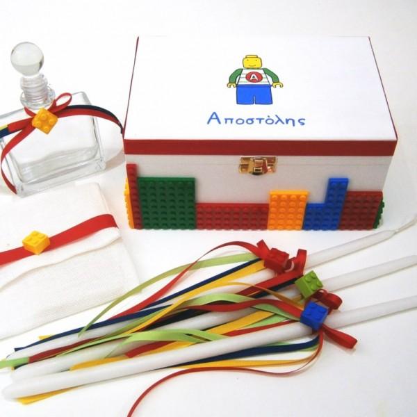 Σετ λαδικών στολισμένo με τουβλάκια τύπου Lego VL001-44