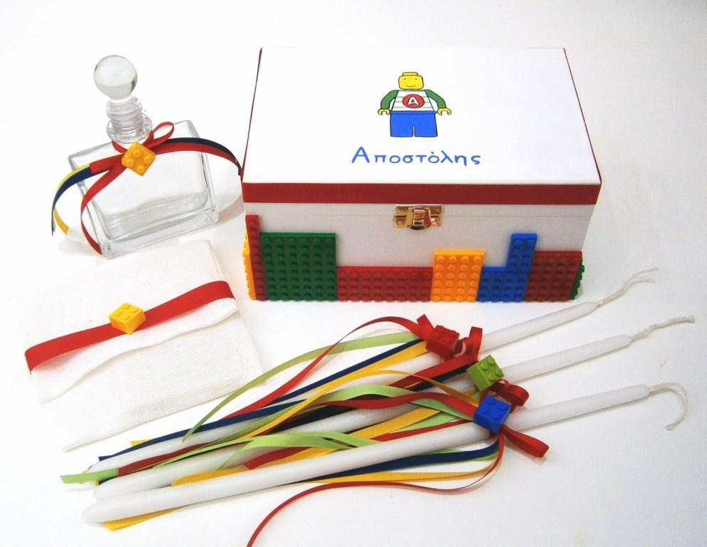 Σετ λαδικών στολισμένo με τουβλάκια τύπου Lego VL001-44  6a289569572