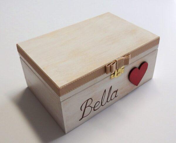 Ζωγραφιστό κουτί καρδιά DZK039