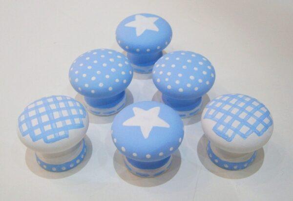 Σετ Παιδικά πομολάκια γαλάζιο-λευκό ZP021