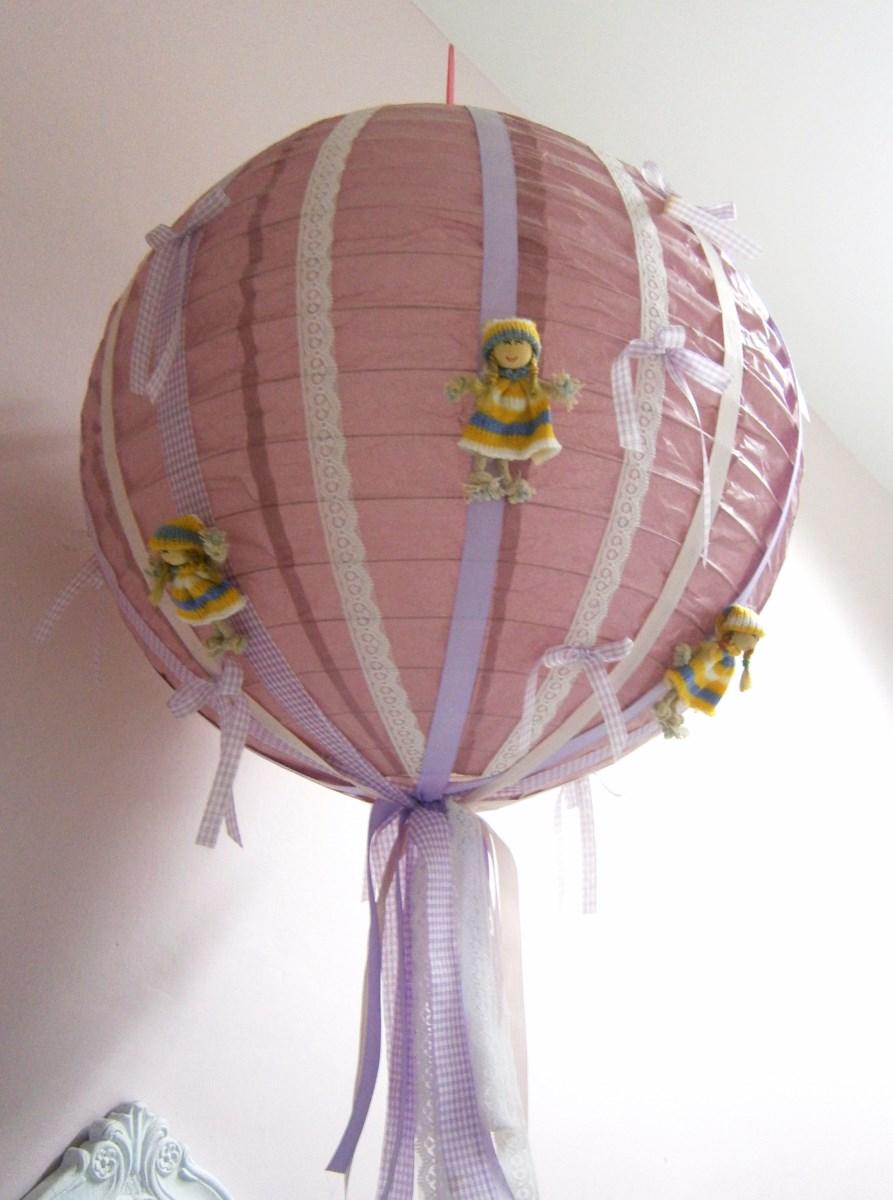 Παιδικό φωτιστικό Λιλά ροζ PF005