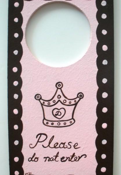 Παιδικό ταμπελάκι διπλής όψης Πριγκίπισσα DTP026