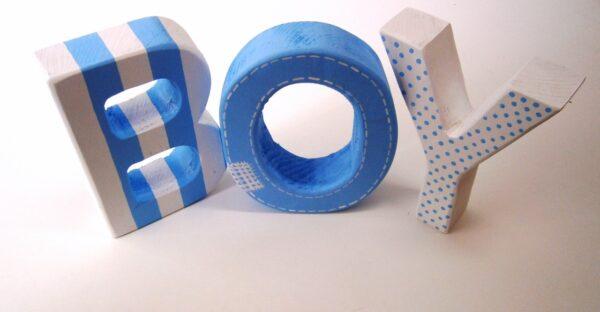 Ξύλινα, διακοσμητικά γράμματα ZG009