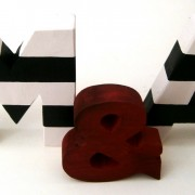 Ξύλινα, διακοσμητικά γράμματα ZG017