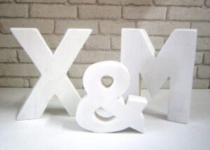 Ξύλινα, διακοσμητικά γράμματα ZG015