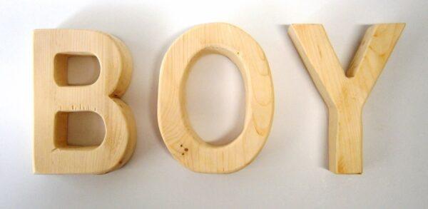 Ξύλινα, διακοσμητικά γράμματα ZG007