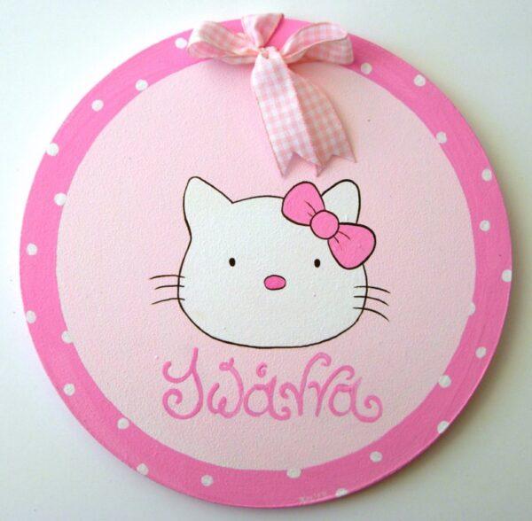 Παιδικό ταμπελάκι πόρτας Hello Kitty DTP052