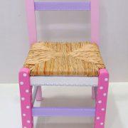 Ζωγραφιστή ξύλινη καρεκλίτσα Κοριτσάκι –  DE039