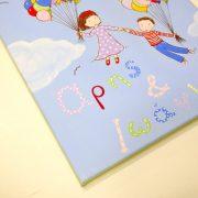 Παιδικός πίνακας παιδάκια με μπαλόνια – DPP124