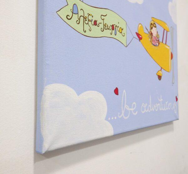 Παιδικός πίνακας παιδάκι σε αεροπλανάκι - DPP125